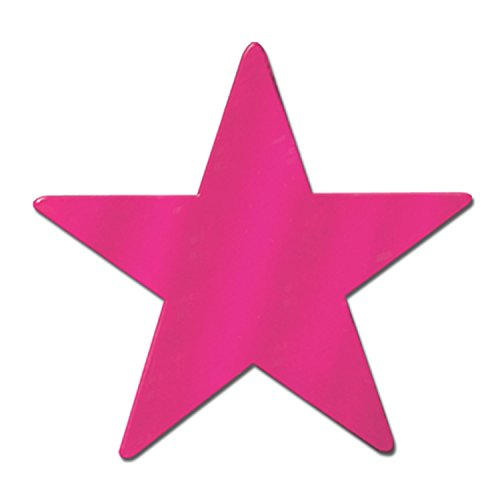 Beistle 55839-C 24 Piece Foil Star Cutouts, 12