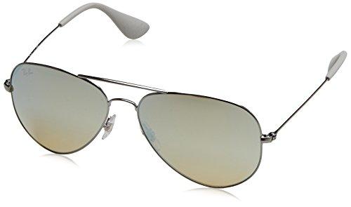 Ray-Ban Metal Unisex Aviator Sunglasses, Gunmetal, 58 mm by Ray-Ban