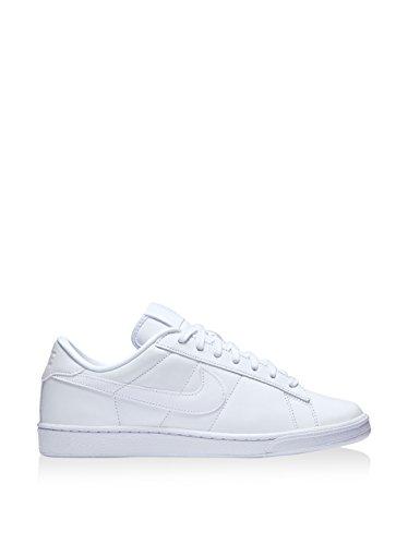 Nike Mens Tennis Classico In Pelle Moda Sneaker Bianco Blu 129