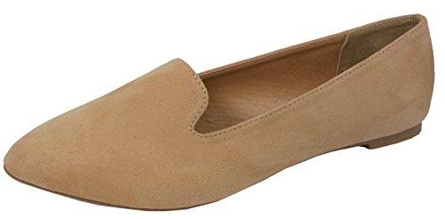 Jynx Women's Slip-On Closed Almond Toe Loafer Driving Smoking Shoe