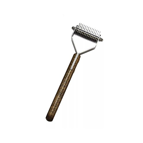 Undercoat Rake, Grooming Brush Tool Dogs & Cats - Safe Dematting Comb Easy Mats & Tangles Removing 13 Teeth Wide