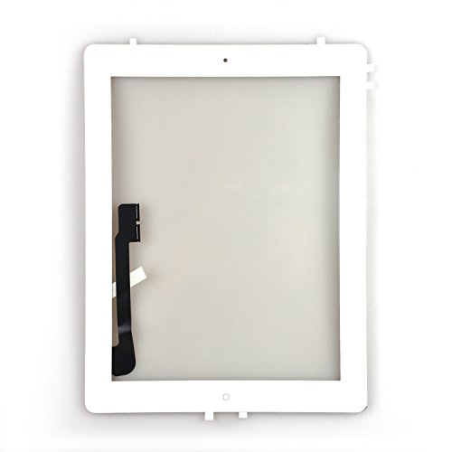 White Touch Screen Digitizer Assembled with Home Button Strong Adhesive for iPad 3 3rd Generation A1416 A1403 A1430 by Leadream
