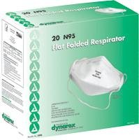 N95 Mask, Flat Fold, 20 Per Box by Dynarex