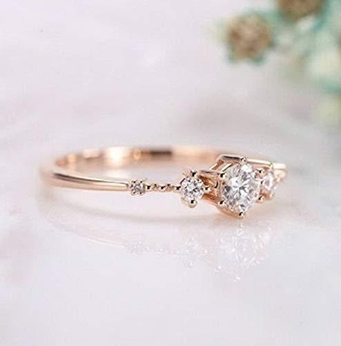(Tomikko Women 925 Silver White Topaz Sapphire Jewelry Wedding Proposal Ring Sz 6-10 | Model RNG - 13365 | 10)