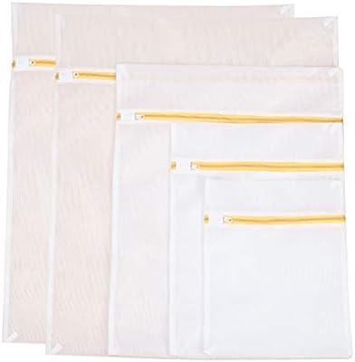 TOPBATHY 5pcs bolsas de lavado de ropa de malla con ...