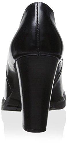 Chaniotakis Dubbele Instappers Dameslaarzen Met Hak Zwart