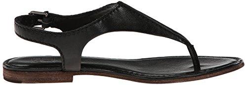 Frye Carson de las mujeres costura T-Strap sandalias Black-72202