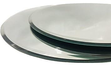 INERRA Redondo Espejo de Cristal Plato - Pack de 2 - para Boda Mesa centros de Mesa, Velas y de Mesa arreglos - Plateado, 30cm: Amazon.es: Hogar