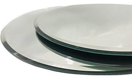 INERRA Redondo Espejo de Cristal Plato - Pack de 2 - para Boda Mesa centros de