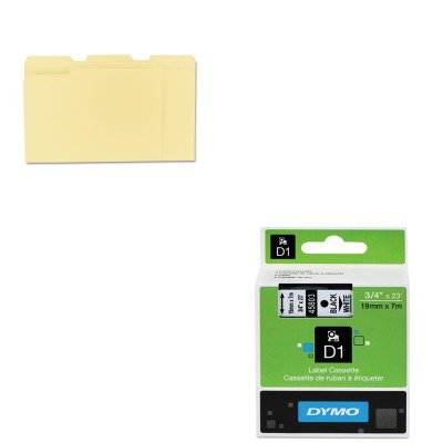 KITDYM45803UNV12113 - Value Kit - Dymo D1 Standard Tape Cartridge for Dymo Label Makers (DYM45803) and Universal File Folders (UNV12113)