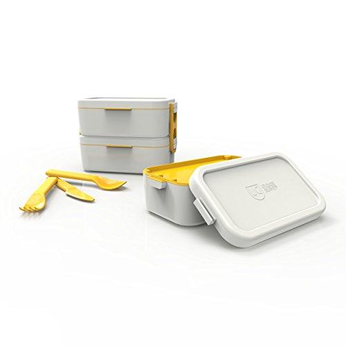 Bento Box Dupla Primacor Anodilar Cinza Claro Polipropileno
