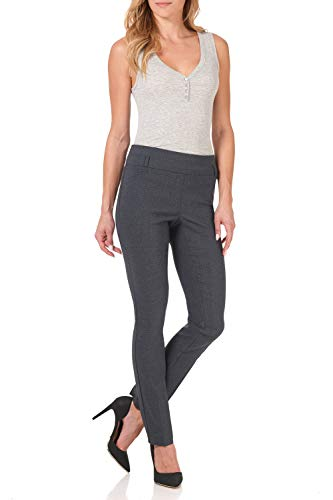 Rekucci Women's Ease in to Comfort Fit Stretch Slim Pant (8,Indigo Tartan)