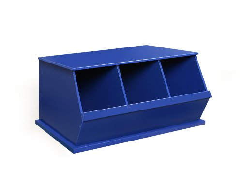 Badger Basket Three Bin Storage Cubby, Blue (Baskets Three Nursery Blue)