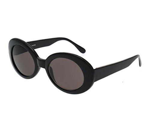 b29a04fa63 BOLD Retro Oval MOD Thick Frame Clout Goggles Round Lens Sunglasses
