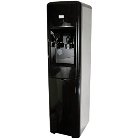 Clover D16A Hot And Cold Stainless Black High Capacity Water Cooler With S 54 Filter