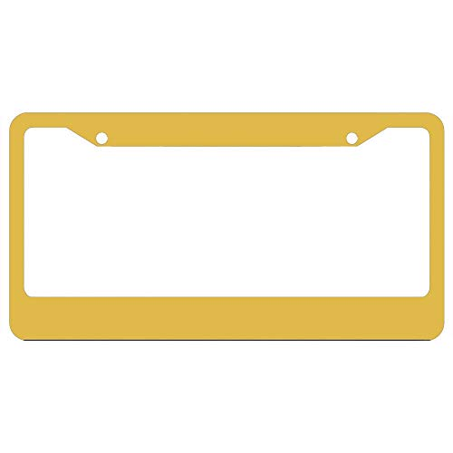 Mustard Yellow Christmas Limited Edition License Plate Frame for Nurse Women,Custom License Plate Frames,Cute Decorative License Plate Frame