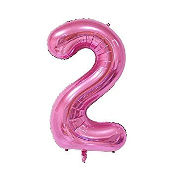 SODIAL(R) 40 inch Digit Number Foil Balloons Helium Balloon inflatable balloon festa marriage Wedding Anniversary Party Pink 2