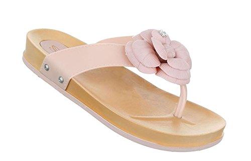 Damen Sandalen Schuhe Sommerschuhe Strandschuhe Zehentrenner Pink 37 WIdZSH8wHG