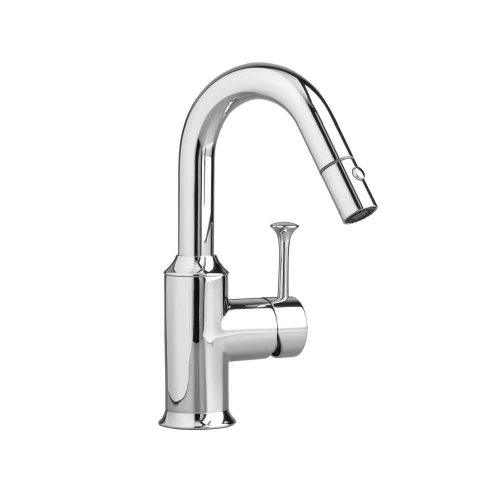 American Standard Appliances (American Standard 4332.410.002 Pekoe Bar Faucet with Pull-Down Spray, Polished Chrome)