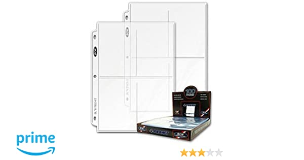 BCW PRO 4-POCKET PHOTO BINDER PAGES 3.5 x 5.25 100 Box of