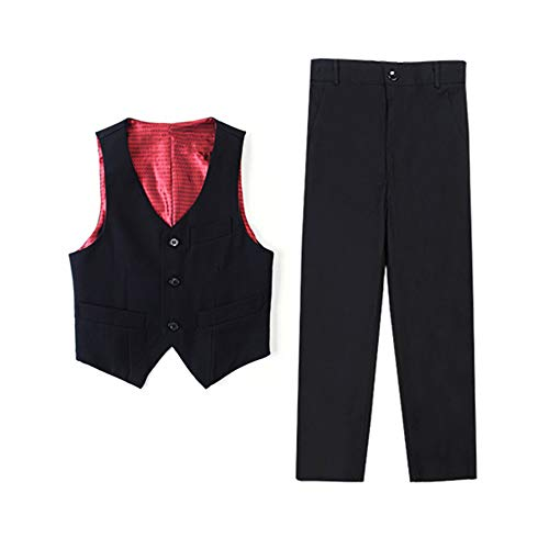 Yanlu Boys Formal Suits Vest Pants Set Dresswear Prom Clothes Black Size 3T ()