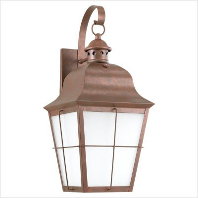 (Chatham Outdoor Wall Lantern in Weathered Copper)