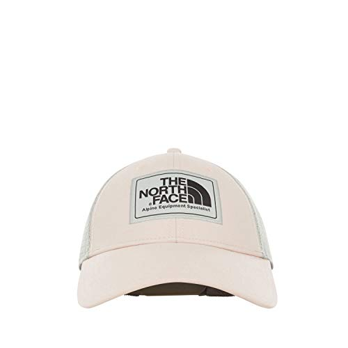 (The North Face Mudder Trucker Hat, Pink Salt/Asphalt Grey, Size OS)