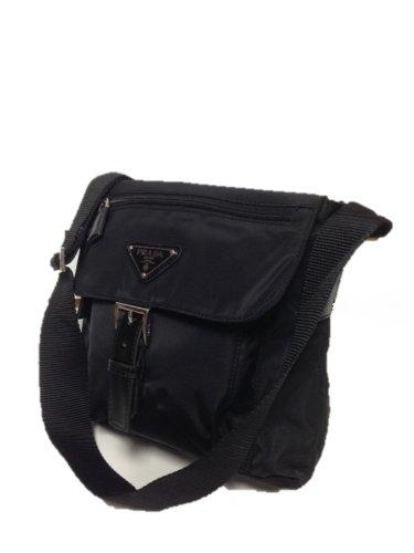 Amazon.com: Prada bt8994 bolsa de mensajero negro tessuto ...