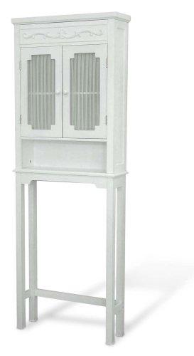 Elegant Home Fashions Lisbon Collection Shelved Bathroom Space-Saver, White,elegant home fashions