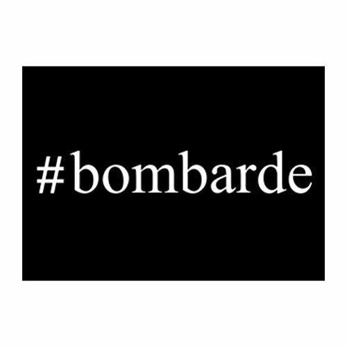 Teeburon #Bombarde Hashtag Packung mit 4 Aufkleber