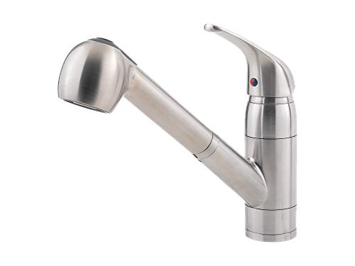 Pfister G133-10SS-R Pfirst Series 1-Handle Pull-Out Kitchen Faucet in Stainless Steel (Renewed) ()