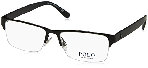 Polo PH1164 Eyeglass Frames 9038-56 - 56mm Lens Diameter Matte Black - Glasses Prescription Polo
