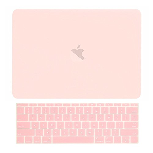 TOP CASE - Macbook Pro 13 WITHOUT Touch Bar (2017 & 2016 Release) 2 in 1, Rubberized Matte Hard Case Cover + Keyboard Cover for New MacBook Pro 13-inch A1708 without Touch Bar - Rose Quartz by TOP CASE