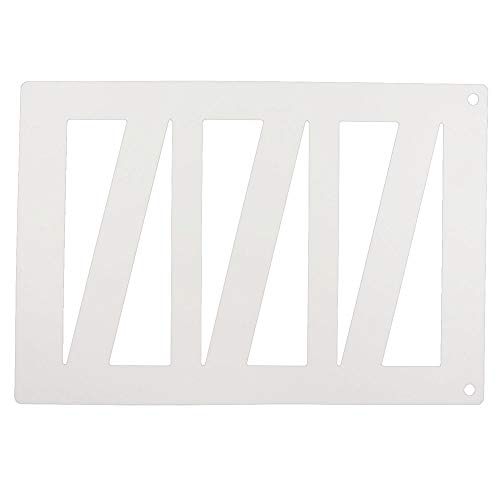 Tuile Template, Plastic Mat with 6 Triangles, Each 8 Inch x 2 Inch