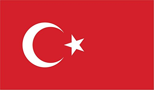 (JMM Industries Turkey Flag Vinyl Decal Sticker Türkiye Cumhuriyeti Car Window Bumper 2-Pack 5-Inches by 3-Inches Premium Quality UV-Resistant Laminate PDS554)