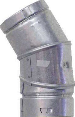 Selkirk Adjustable Elbow 4 Dia. Type B 45-60 Deg. Al 500 Deg. F Ul by Selkirk Dia 45 Deg Elbow