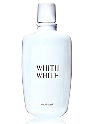 WHITH WHITE Teeth Whitening Dental Care Mouthwash for Adults and Kids, Made in Japan ??, Anticavity Portable Oral Care, 10.1Fluid Ounce(300ml)