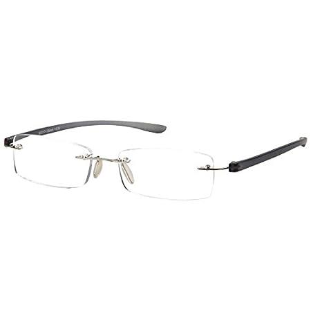 LianSan Rimless reading glasses men fashion women's frameless readers glasses reading eyeglasses 5017 (blue, +1.50) LMO-017