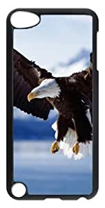 DIY Fashion Case for iPod Touch 5 Generation Black PC Case Back Cover for iPod Touch 5th with Bald Eagle