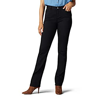Lee Womens 35206 Iconic Regular Fit Straight Leg Jean Jeans - Black - 0 Short