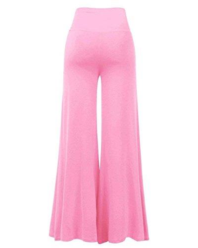 Donna Donne Pink Classiche Unique High Eleganti Pantaloni Fashion Tempo High Sciolto Aladin Autunno Libero Pantaloni Hippie Waist Solidi Pantaloni Waist Pantaloni Baggy Primaverile Colori Palazzo gqgSr