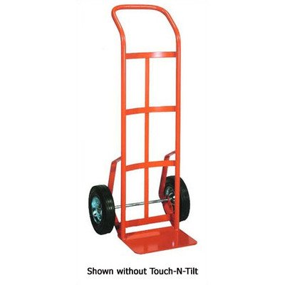 Wesco Industrial Products 210549 Touch-N-Tilt Steel Ergonomic Hand Truck, Solid Rubber Wheels, 700 Pound Load Capacity, 20