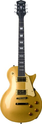 Oscar Schmidt OE20G-A-U Solid Body Electric Guitar. Gold Top