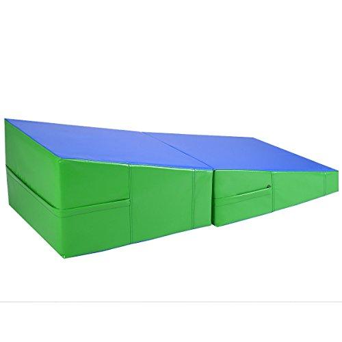 Incline Gymnastics Mat Wedge Folding Gymnastics Gym Fitness Tumbling 48''x24''x14'' by BUY JOY (Image #1)
