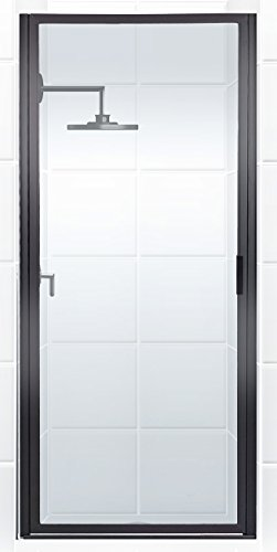 Coastal Shower Doors P27.70O-C Paragon Series Framed Continuous Hinged Shower Door with Aquatex Glass, 27 x 69 , Black Bronze
