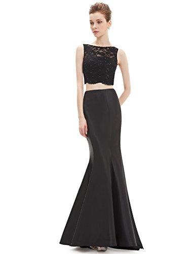 Ever-Pretty HE08434RD12 - Vestido para mujer Negro