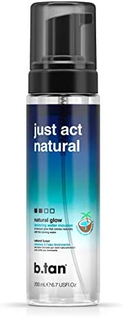b.tan Self Tannwe Bronzing Tanning Water - Just Act Natural - Sunless Tanner Enriched With Coconut Water &