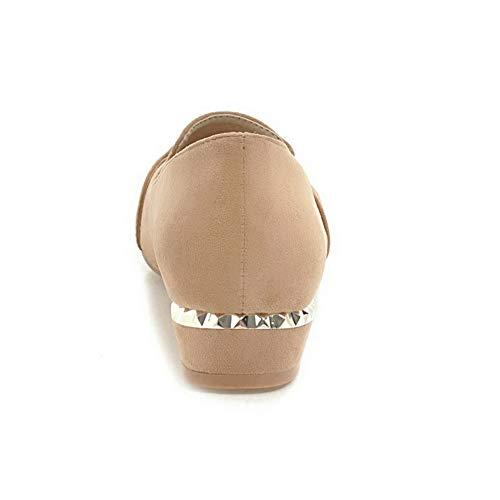 Compensées Abricot SDC05853 36 Marron Femme 5 AdeeSu Sandales wAFq7p