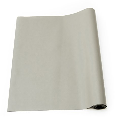 3' Reflective Vinyl - Bertech ESD High Temperature Rubber Mat Roll, 3' Wide x 40' Long x 0.06