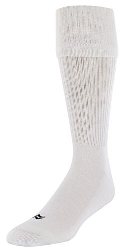 Sof Sole Midfielder Soccer Team Athletic Performance Socks, White, Youth Small 10-4.5, 2-Pack